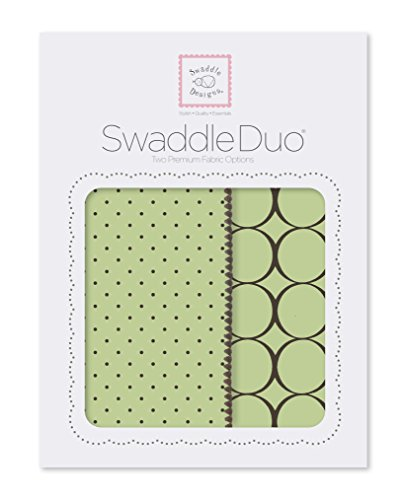 SwaddleDesigns SwaddleDuo, Modern Duo (Lime Set of 2) by SwaddleDesigns