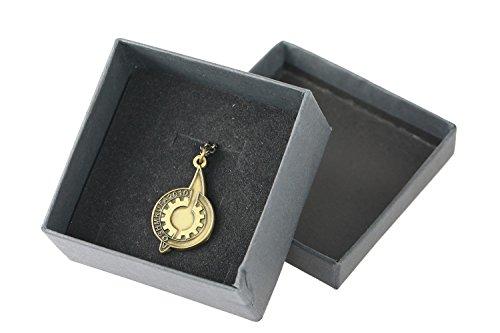 Mesky Cosplay Halskette Steins;Gate Necklace Sammlung Souvenir Pendant Anime Emblem Anhänger aus Zink-Legierung Herren und Damen Broze für Party, Fasching und ()