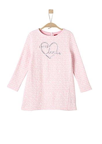 (s.Oliver Red Label Junior Mädchen Geringeltes Sweatkleid mit Blumen Light pink AOP 134.REG)