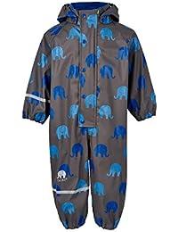 Celavi Regenanzug Overall grau mit blauen Elefanten