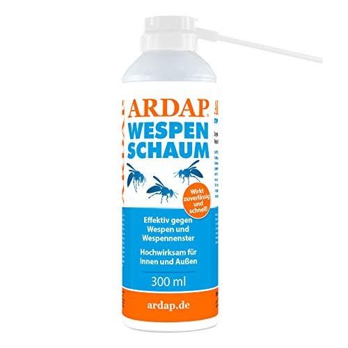 ARDAP Wespenschaum & Ungezieferschaum 300ml - Mittel zur gezielten Bekämpfung von Wespen & Ungeziefern in Nestern