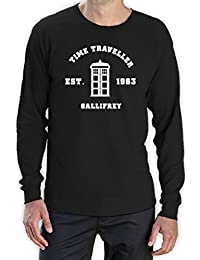 Inspired Doctor Time Travel Gallifrey Gift Idea Men'sLong Sleeve T-Shirt