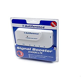 Antiference 4 Way TV Signal Amplifier Booster  - White