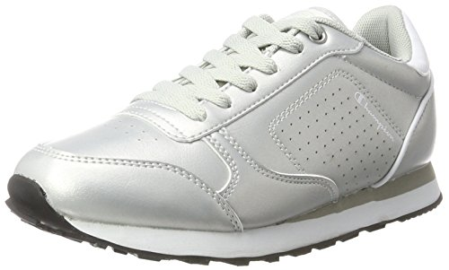 Champion low cut shoe c.j. pu, scarpe running donna, argento (silm), 38 eu