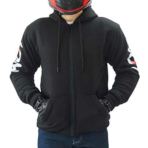 LDM - Sudadera con capucha para hombre, para motorista Street-r, acorazada negro...