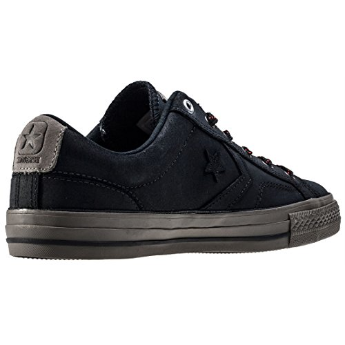 Converse Star Player Premium Leather Ox Uomo Sneaker Nero Black