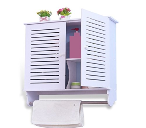Küchenregal Landhaus Wandregal Hängeregal Wandboard Regal Küche Badezimmer Hängeschrank Weiß