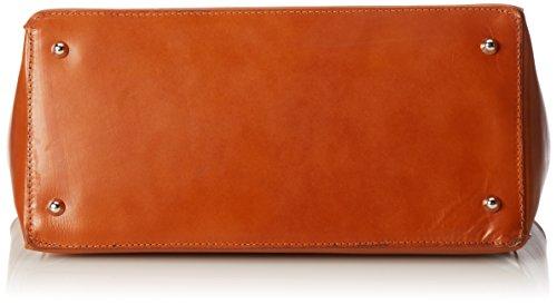 CTM Porta documenti da lavoro da Donna, 40x30x10.5cm, Vera pelle 100% Made in Italy Cuoio