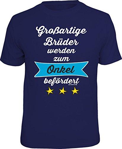 Das Geschenk-T-Shirt für den frisch gebackenen Onkel: Großartige Brüder werden zum Onkel befördert Größe M