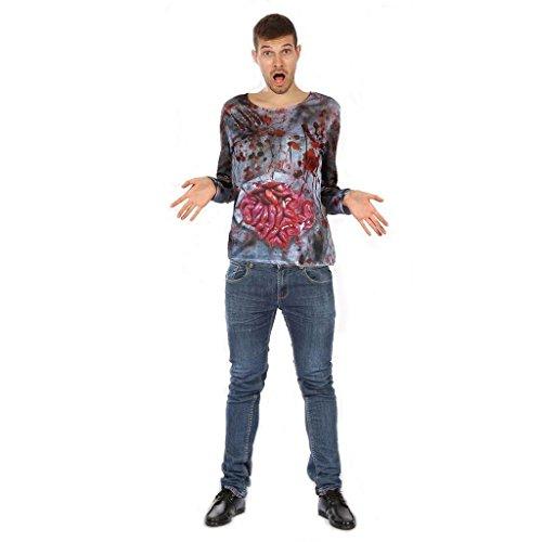 YOU LOOK UGLY TODAY Herren Halloween Kostüme 3D-Printing T-Shirt Tops mit lustigen Mustern Horror Zombie Skelett Schädel Größe L/56