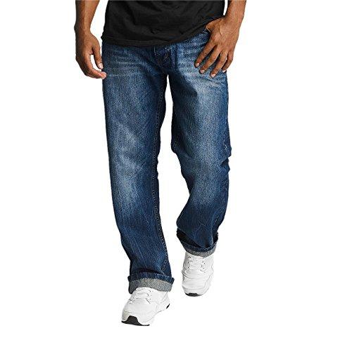 Rocawear Herren Jeans / Loose Fit Jeans Loose Fit blau W