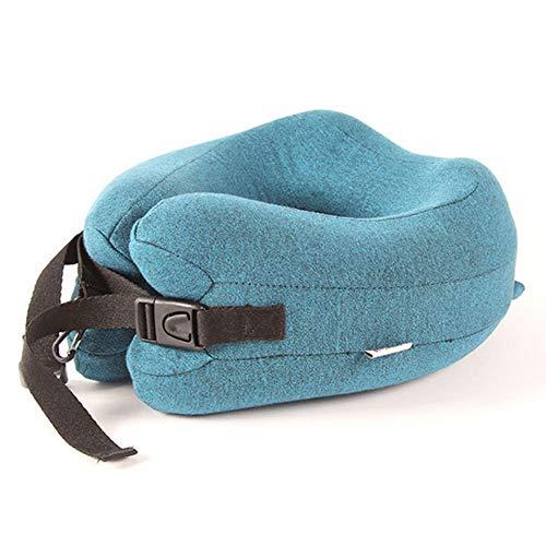 ZXC Reisenackenkissen Langsam Rebound Memory-Foam-Pflege for die Halswirbelsäule Komfortable Fit for die Reise Camping Home Office Blau