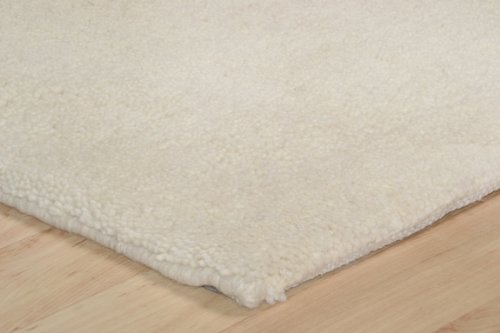 Theko Marokkanischer Berber Teppich Maroc uni blanc in 14 Grössen ca. 120 x 180 cm
