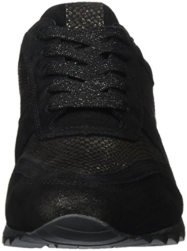 Hassia Barcelona Weite H< Sneakers da Donna Nero (Schwarz/Bronce)