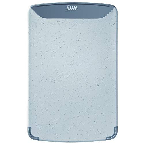 Silit 2142235323 Schneidebrett, hochwertiger Kunststoff, 25 x 16 cm, grau