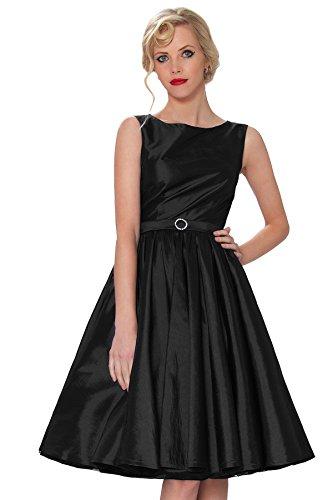 Classy SEXYHER Ropa Audrey Hepburn Vintage Estilo Cl¨¢sico Rockabilly vestido oscilaci¨®n 1950 Tarde - RBJ1401 (UK10, - De Vestir Faldas