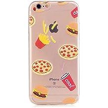 MUTOUREN 2017 Serie> iPhone 6 Plus / 6S Plus> TPU protector funda de silicona transparente [Fusión] [Técnica de Reducción] [cubierta de polvo se adjunta] 360 proteger el teléfono de daños> hamburguesa con cola de KFC