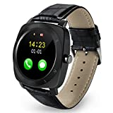 VINSEW Orologio Sportivo Smart Watch Pedometro Fitness Orologio Fotocamera SIM Card Smartwatch Telefono Mp3 Player Uomo per iOS Android Watchphone, Nero