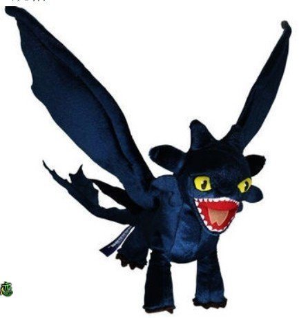 Dreamworks How to Train Your Dragon Deluxe Night Fury Toothless Poseable Figure Plush Doll