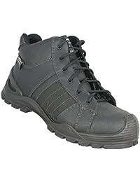 AIMONT - Calzado de protección de Piel para hombre gris gris luminoso (ral 7035) gris Size: 41
