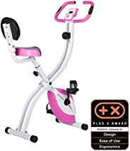 Ultrasport Unisex F-Bike Advanced Exercise Bike, Display LCD, Home Trainer Pieghevole, Livelli di Resistenza R