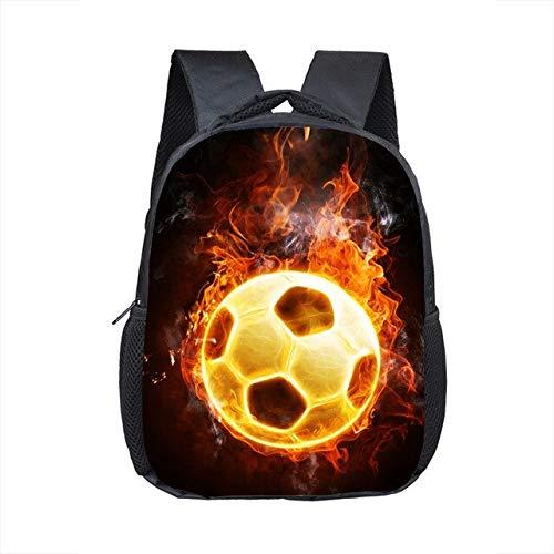 OFOO Schulranzen Fußball-Print Rucksack für Jahre alt Kinder Schulranzen klein Kleinkind Tasche Kindergarten Taschen 12Fuß 12 -