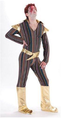 Kostüm Dress Stardust Ziggy Fancy (70's Ziggy Stardust Herren Verkleidung Komplettes Kostüm -)