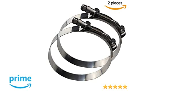 4 x 51mm 55mm W4 Stainless Steel T-Bolt Hose Clamps
