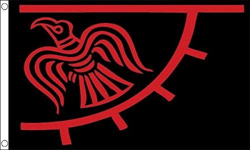 Flag Wholesaler Odinic Raven Flagge, Mehrfarbig, Large