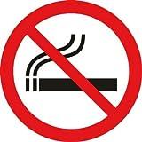 2 Aufkleber Rauchen verboten 10cm, Rauchverbot A054