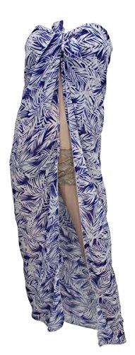 La Leela grünen Kleid leichten Chiffonrock Sarong Vertuschung 72x42 Zoll  Blau
