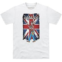 Official Where's Wally Union Jack Camiseta, Para hombre