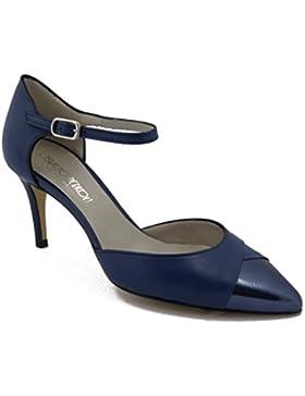 OSVALDO PERICOLI Sandalo con laccio e fibbia regolabile, in morbida pelle con tacco 7cm, 126-Estivo