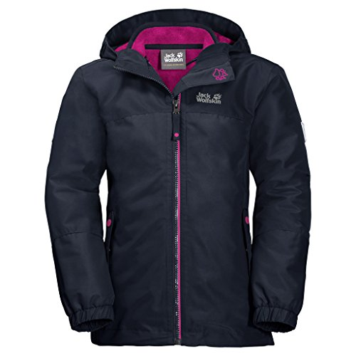 Jack Wolfskin Unisex Kinder 3in1-jacke, midnight blau, 128