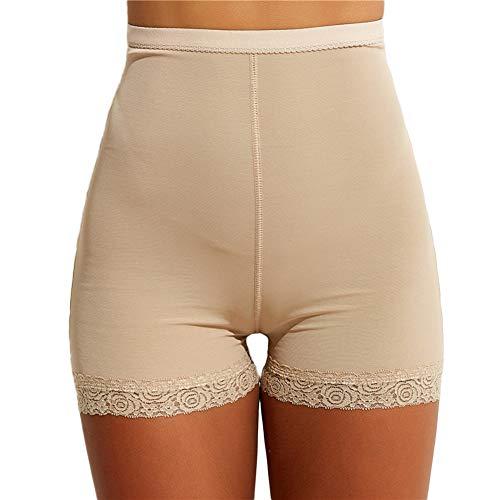 Biddtle Damen Miederslip Butt Lifter Figurformender Shapewear Push Up Enhancer Bauch Weg Höhe Taille Miederhose Unterwäsche,Beige,XL - 5