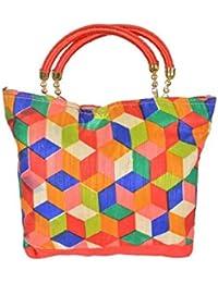 S.K.G. Women's Handbag With Handle(Three Pockets)