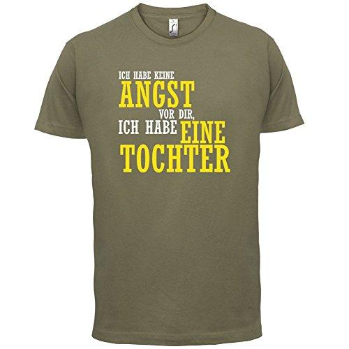 ICH FÜRCHTE MICH NICHT VOR DIR, ICH HABE EINE TOCHTER - Herren T-Shirt - 12 Farben Khaki
