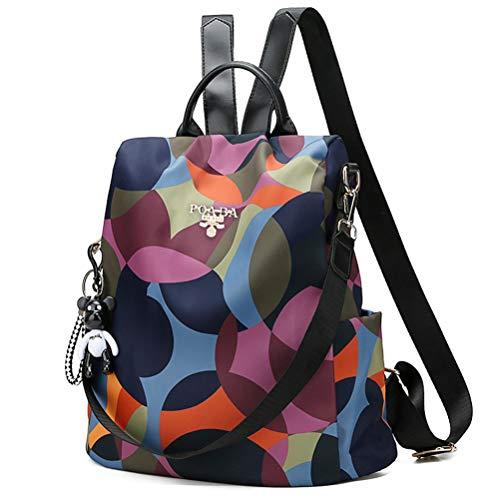 Damen Rucksack Umhängetasche Anti Diebstahl Tasche wasserdichte Nylon Schultaschen für Herren, Damen, Arbeit, Reisen, Schule, Verstecktem Reissverschluss -