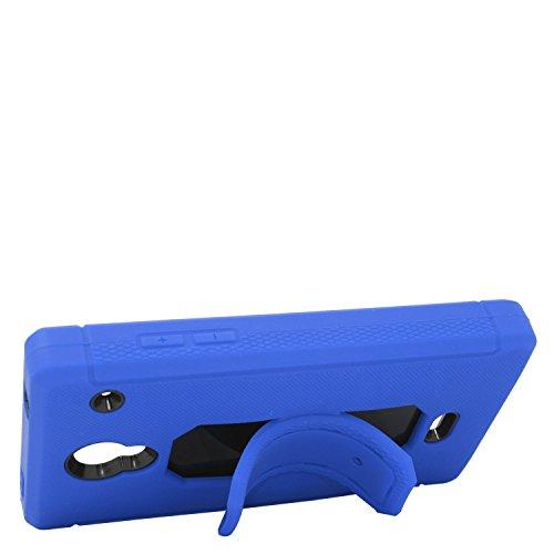 Eagle Cell Sharp Aquos Schutzhülle mit Hybrid-Ständer, Blau/Schwarz