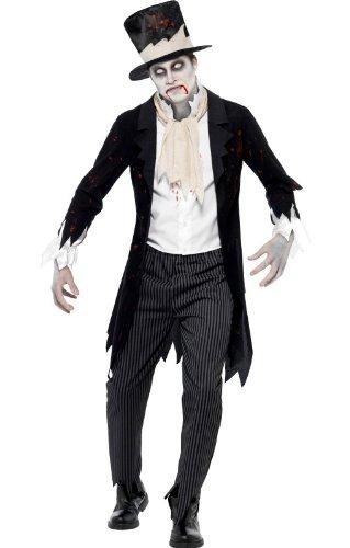 Zombie Groom Kostüm L (Bräutigam Und Braut Zombie Kostüme)