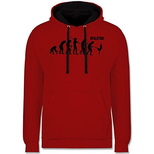 Evolution - Modern Dance Evolution - Kontrast Hoodie Rot/Schwarz