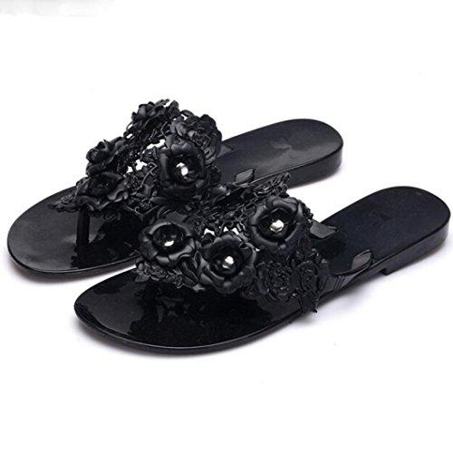 cloder-femmes-plastic-beach-chaussures-jelly-couleur-flower-flat-casual-sandals-slipper-noir-36