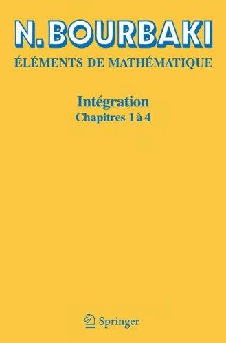 Intgration, chapitres 1  4
