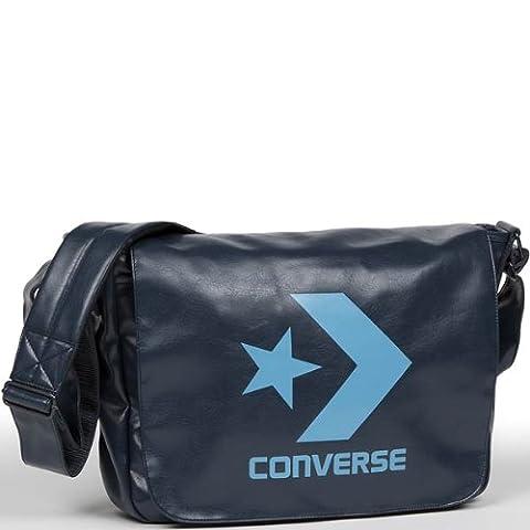 converse star chevron shoulder bag vintage blau