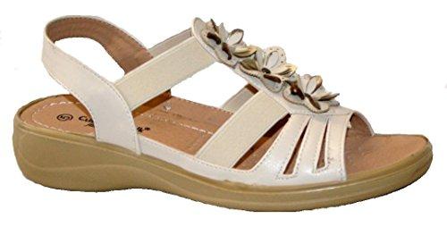 Cushion Walk-Sandali di abbigliamento in materiale sintetico da donna Crema