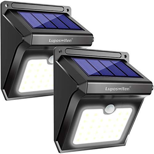 Solarleuchten für Aussen,Super Hell Solarlampen mit Bewegungsmelder, IP65 Wasserdicht Solarlicht Lichter,Solarlampen Aussenbeleuchtung [2 Stück]