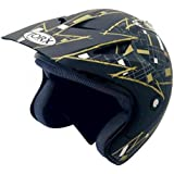 Casque MOTO trial quad TORX DOUG Black/Gold Taille M