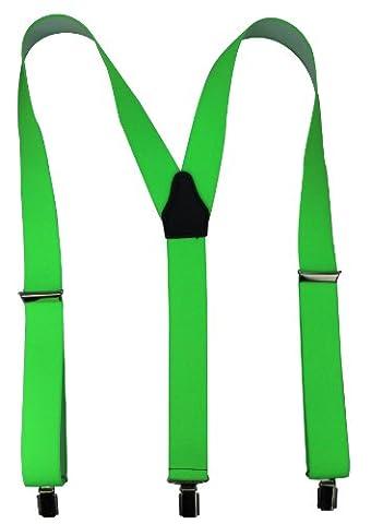 Bretelles de haute qualité avec Clips fort de 35mm en vert neon