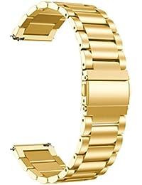 20mm Correa para reloj para Samsung Gear Sport, de repuesto de acero inoxidable correa de reloj reloj banda vneirw