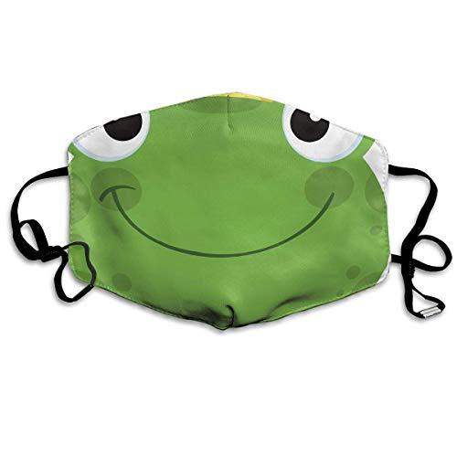 Funny&shirt Kaomoji Gesichtsmaske für Jungen und Mädchen, antiallergisch, hypoallergen, mit Ohrschlaufe, elastischer Band, süßer Frosch mit (C3po Kostüm Mädchen)